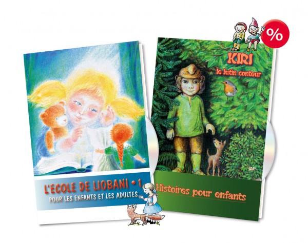 OFFRE 2 DVD L'école de Liobani • 1 Pour les enfants et les adultes + KIRI, le lutin conteur