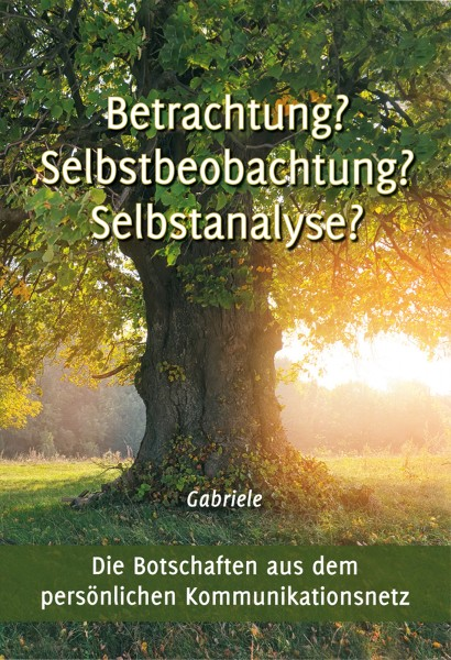 eBook - Betrachtung? Selbstbeobachtung? Selbstanalyse?