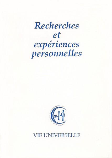 Recherches et expériences personnelles