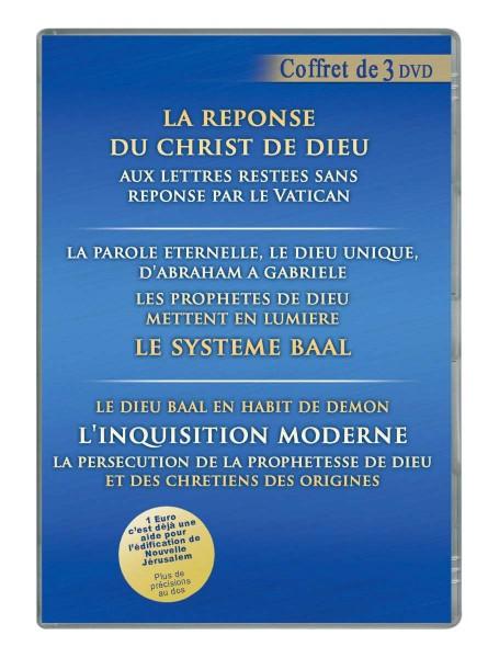 """Coffret 3 DVD : """"LA RÉPONSE DU CHRIST DE DIEU AUX LETTRES LAISSÉES SANS RÉPONSE PAR LE VATICAN"""""""